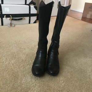 Meroma size 9.4 black Bonnie knee high booties